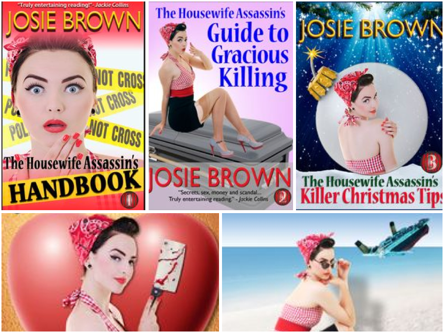 The Housewife Assassin series by Josie Brown.