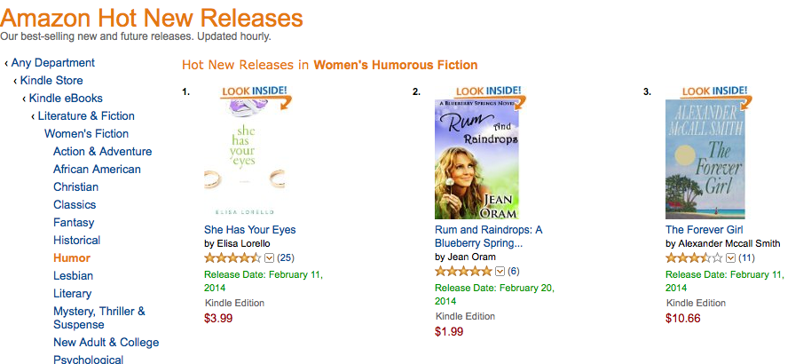 Rum and Raindrops an Amazon hot new release in women's fiction