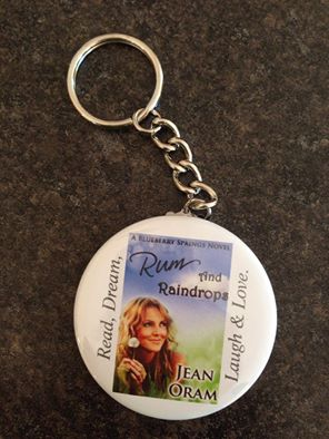 Rum and Raindrops keychain