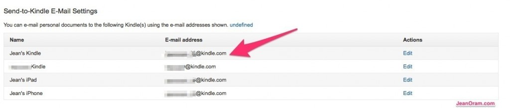 Find Your Kindle's Email Address
