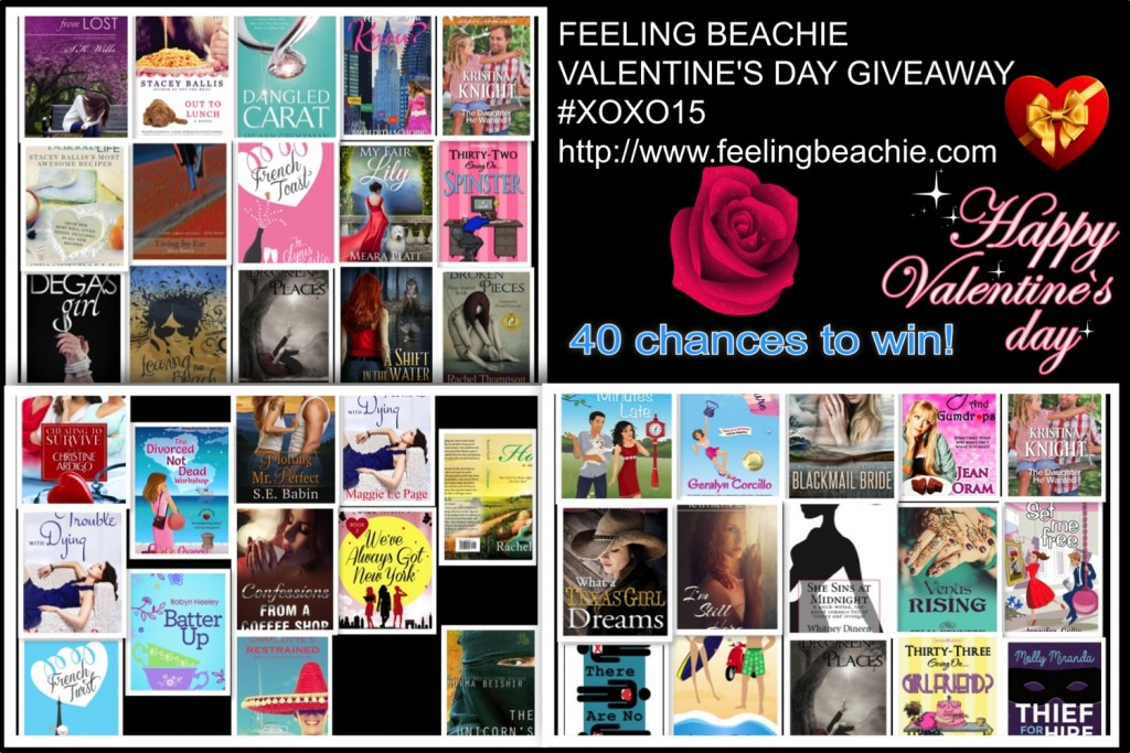 Win one of 40 romance novels for Valentine's Day