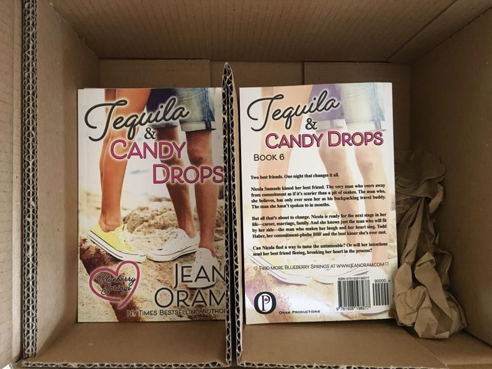 Tequila and Candy Drops by Jean Oram. Sweet romance, small town romance set in Blueberry Springs.