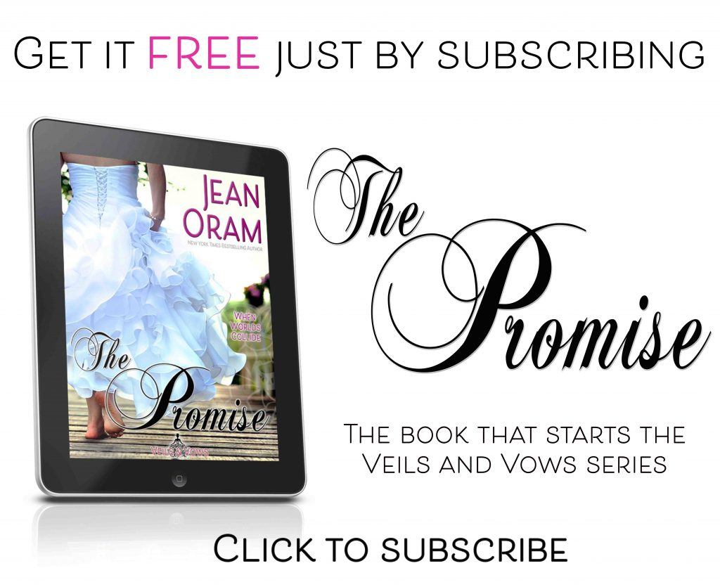 Subscribe to Jean Oram newsletter free book The Promise Veils and Vows
