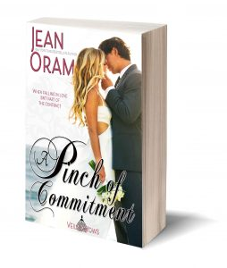 A Pinch of Commitment by Jean Oram, Veils and Vows romance book 2 marriage of convenience wedding romance