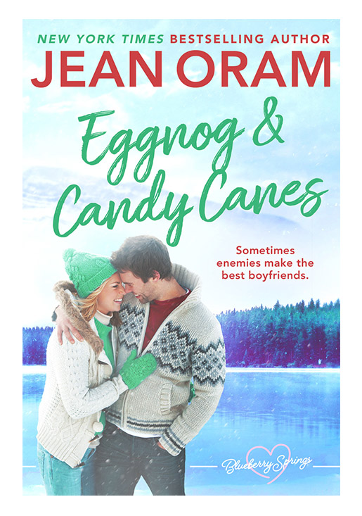 Eggnog and Candy Canes a holiday Christmas romance by Jean Oram, irresistible sweet small town romance set in Blueberry Springs.