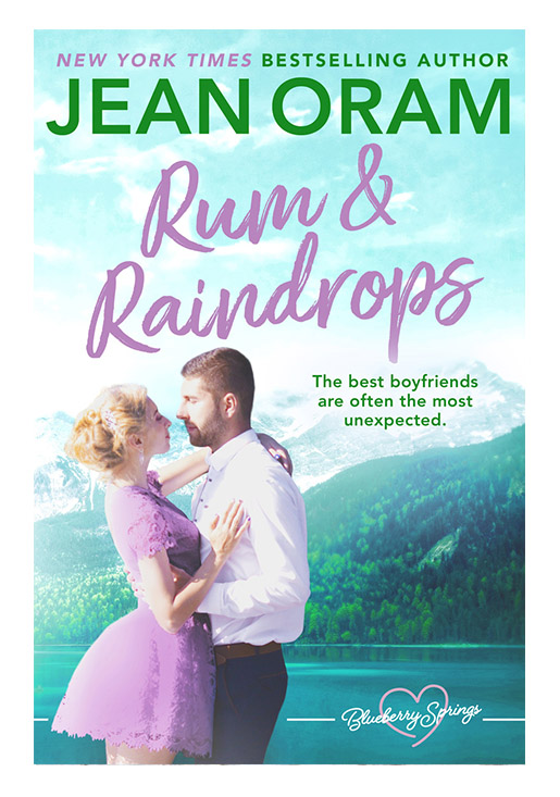 Rum and Raindrops by Jean Oram, irresistible sweet small town romance set in Blueberry Springs.