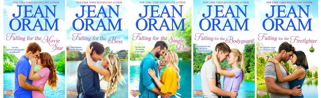 All five new covers for the Summer Sisters series. Couples cuddling in front of lakes.