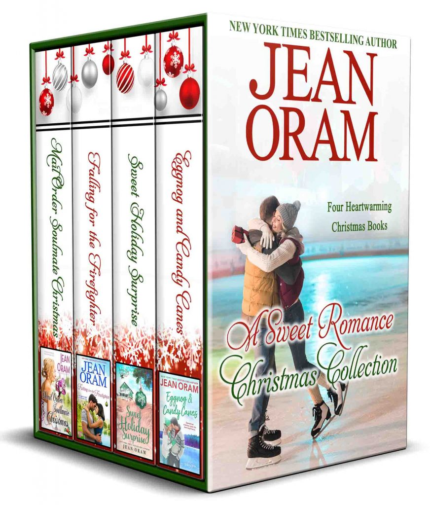 Four Christmas romances, best sweet romance novels, bestselling sweet romance, Falling for the Firefighter, Mail Order Soulmate Christmas, Sweet Holiday Surprise, Indigo Bay Sweet Romance series, Eggnog and Candy Canes