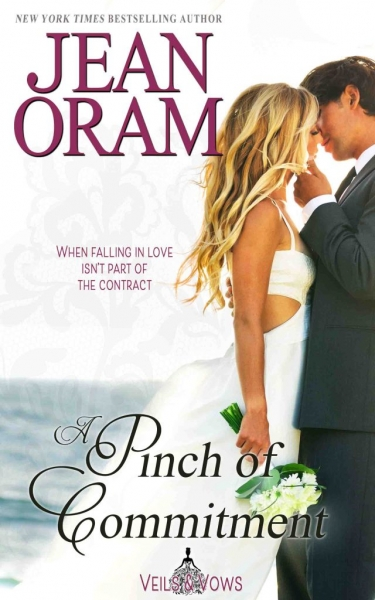Veils and vows series by Jean Oram. A Pinch of Commitment. Lily and Ethan Mattson. A Marriage of convenience between friends. A fake marriage of conveience romance. Sweet MOC small town romance. Book 2 in the Veils and Vows series by Jean Oram.
